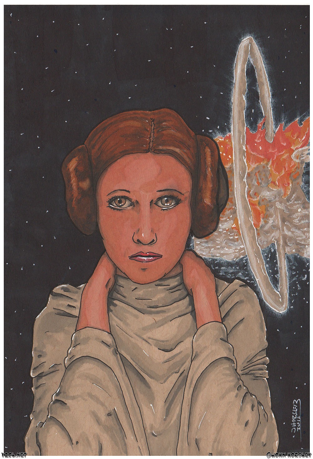 Princess Leia - Death Star Explosion copy