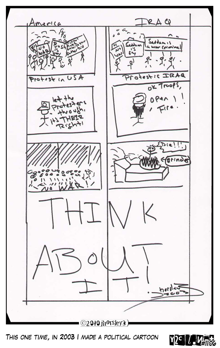 This One Time In 2003 I Made A Political Cartoon