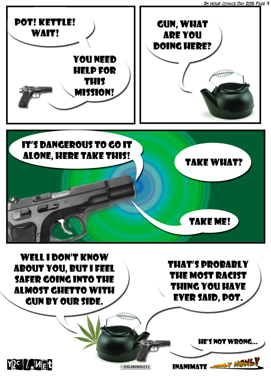 24 Hour Comics Day 2015 Page 7 – Dangerous to Go It Alone