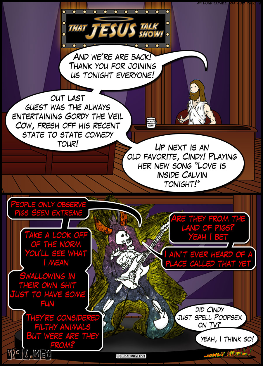 24 Hour Comics Day 2015 Page 16 – That Jesus Talk Show with Cindy!