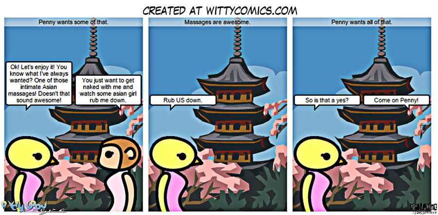 Witty Comics – Penny wants a couples massage