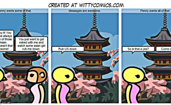 Witty Comics - Penny wants a couples massage