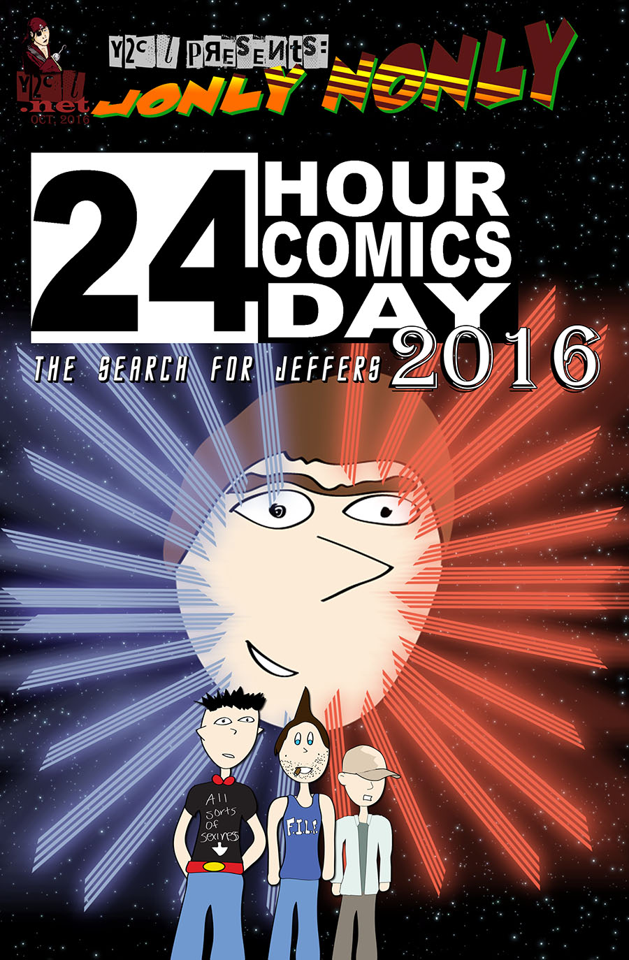 24 Hour Comics Day 2016 – The Search For Jeffers – COVER