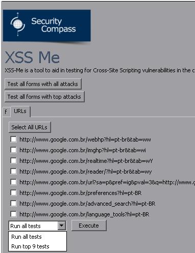XSS-ME :  Addon para Firefox de Análise de XSS