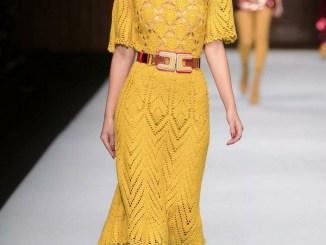 elisabetta franchi платье крючком желтое 2018