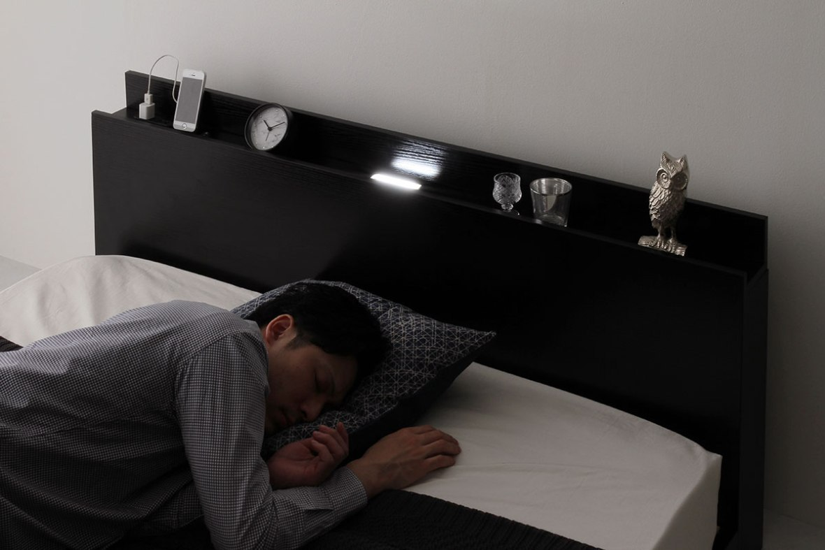 LED照明付きローベッド(ブラック・ホワイト)