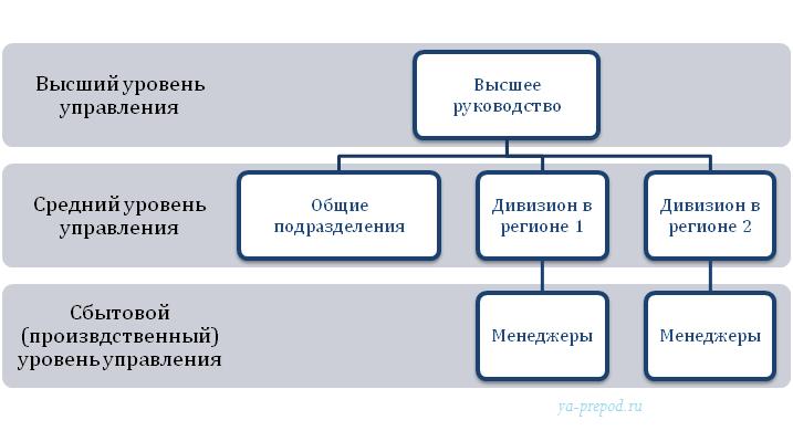 Дивизиональная структура региональная пример