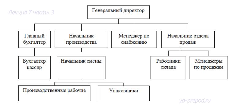 Пример линейно-функциональной структуры Лекция 7 часть 3