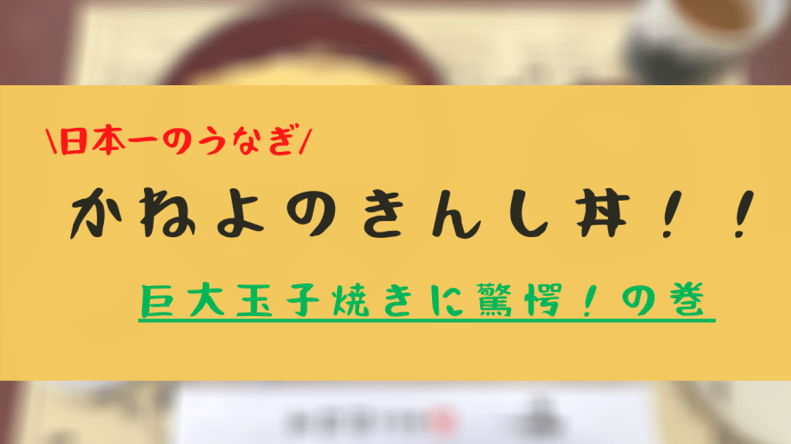【食べた!】日本一のうなぎ!!かねよのきんし丼!!巨大玉子焼に驚愕!!の巻