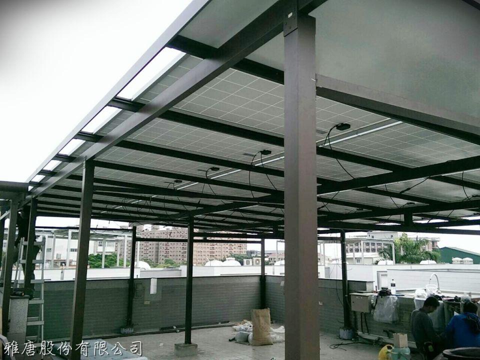 太陽能遮雨棚架的材質比較-鋁合金太陽能遮雨棚架