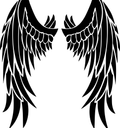 wing svg angel clipart wings big image [ 2163 x 2400 Pixel ]
