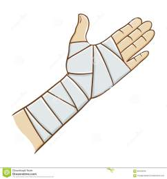 bandaid clipart bandaged arm injured hand wrapped in png freeuse stock [ 1300 x 1390 Pixel ]