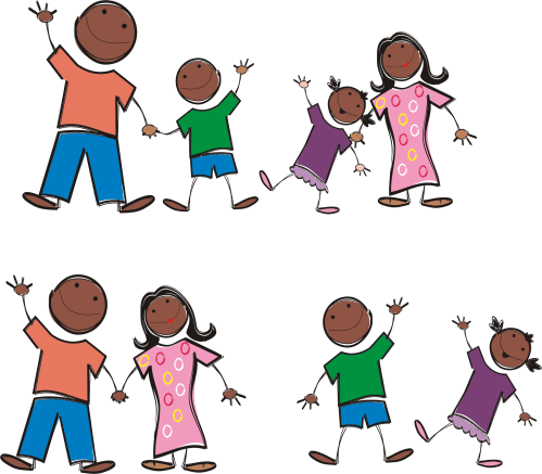 small resolution of black family png stick figure icons free
