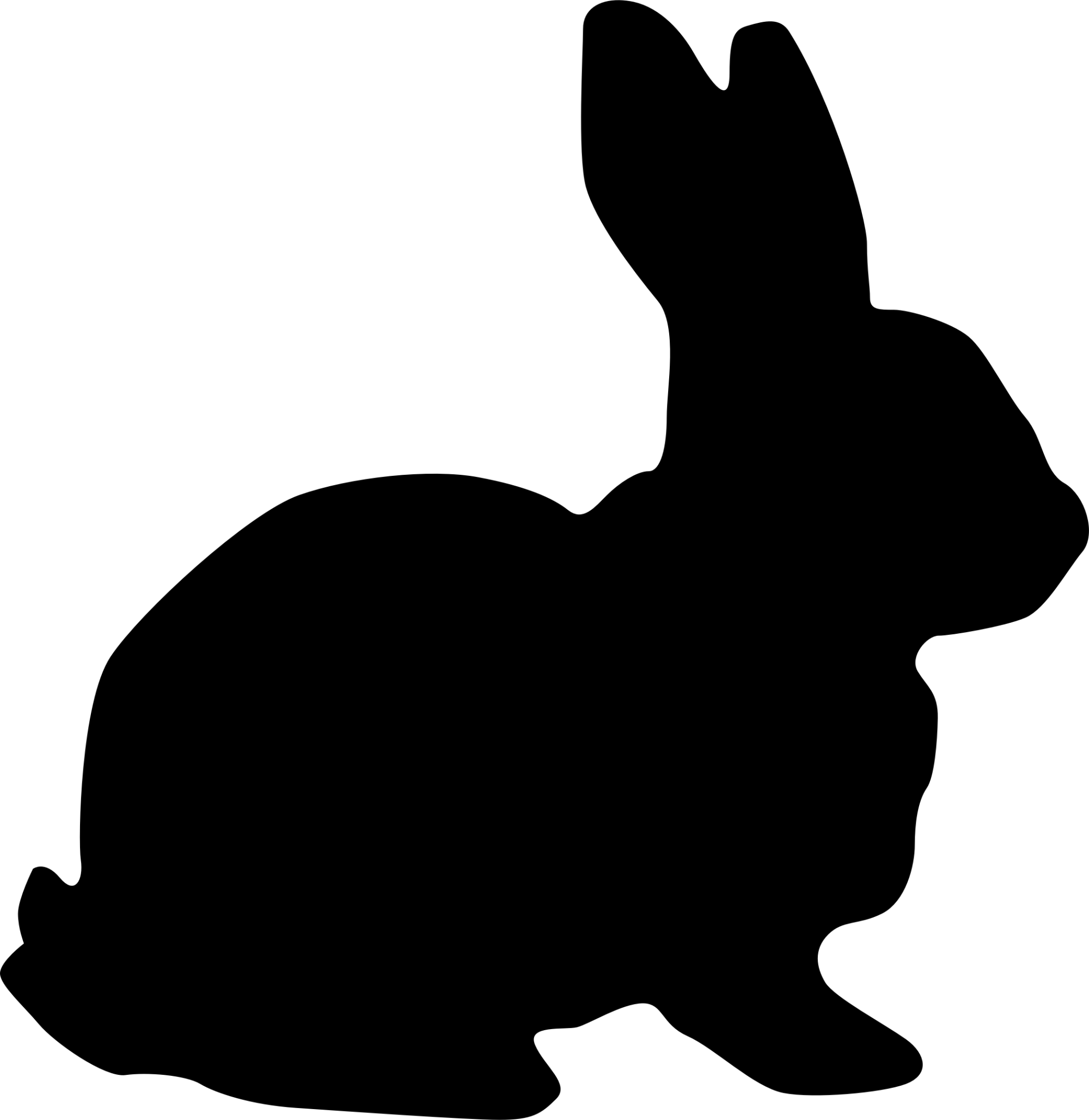 hight resolution of bunny silhouette png clipart rabbit big image image free stock