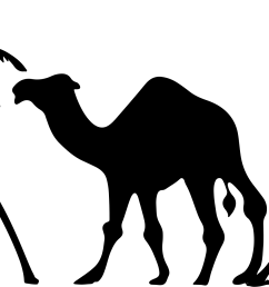 camel clipart palm tree trees silhouette icons png [ 2343 x 1161 Pixel ]
