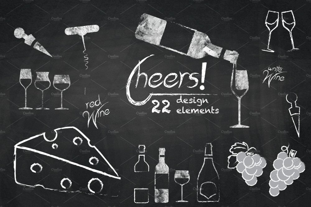 medium resolution of chalkboard clipart wine cheers cliparts illustrations creative jpg