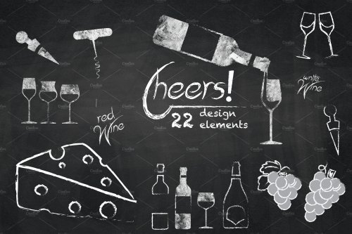 small resolution of chalkboard clipart wine cheers cliparts illustrations creative jpg