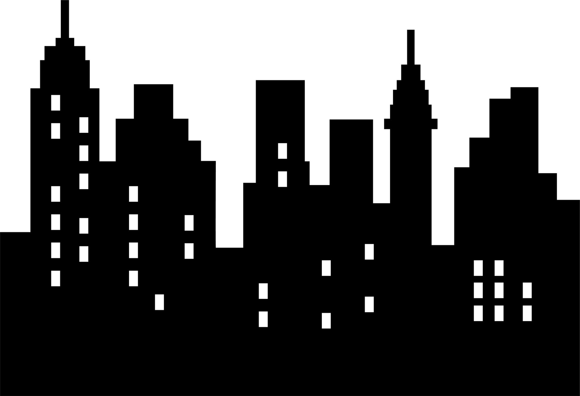 hight resolution of city clipart sky scrapers skyscraper png black and clipart black and white download