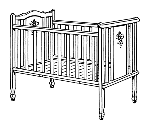 small resolution of crib clipart baby stuff vector library stock