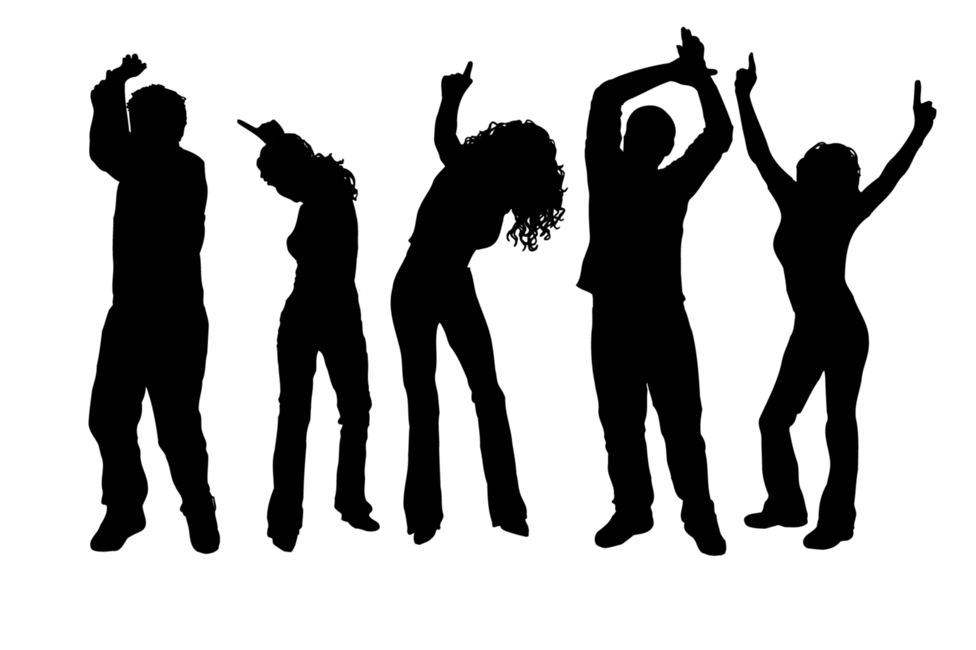 hight resolution of dancer clipart party dance silhouette at getdrawings vector black and white stock