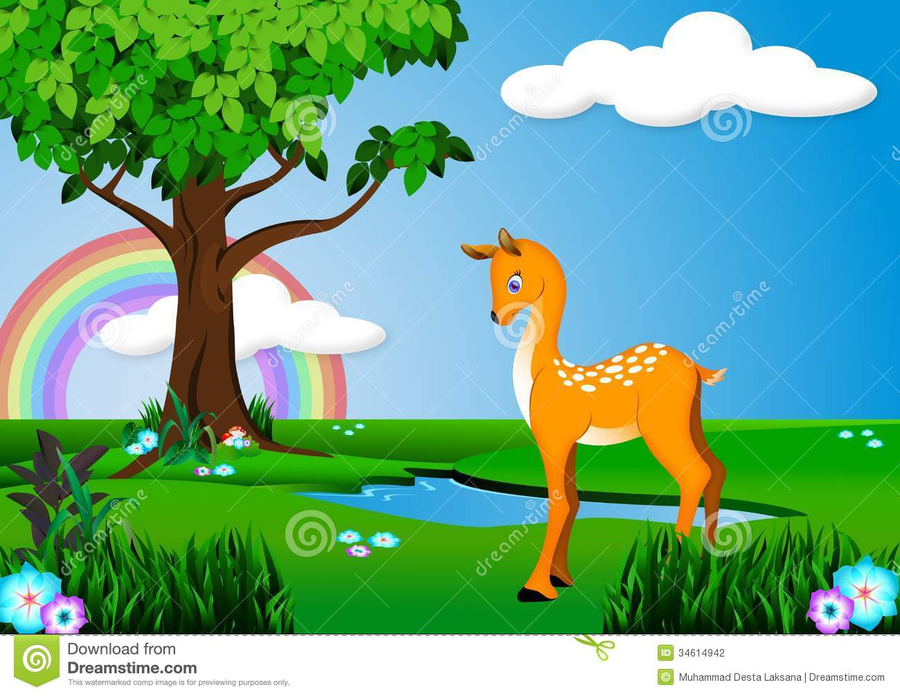 hight resolution of deer clipart forest banner free stock