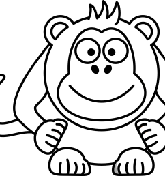 drawing monkeys cute of a monkey graphic transparent download [ 1969 x 1613 Pixel ]