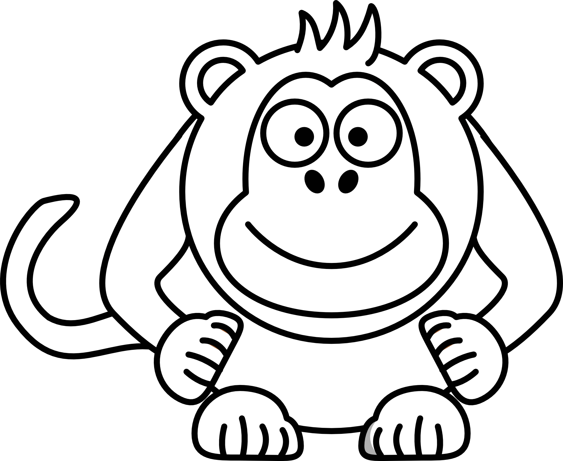 hight resolution of drawing monkeys cute of a monkey graphic transparent download