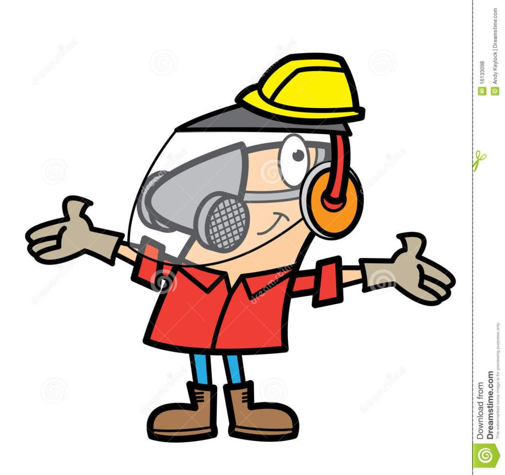 medium resolution of free work safety cliparts cartoon man wearing safety equipment stock vector
