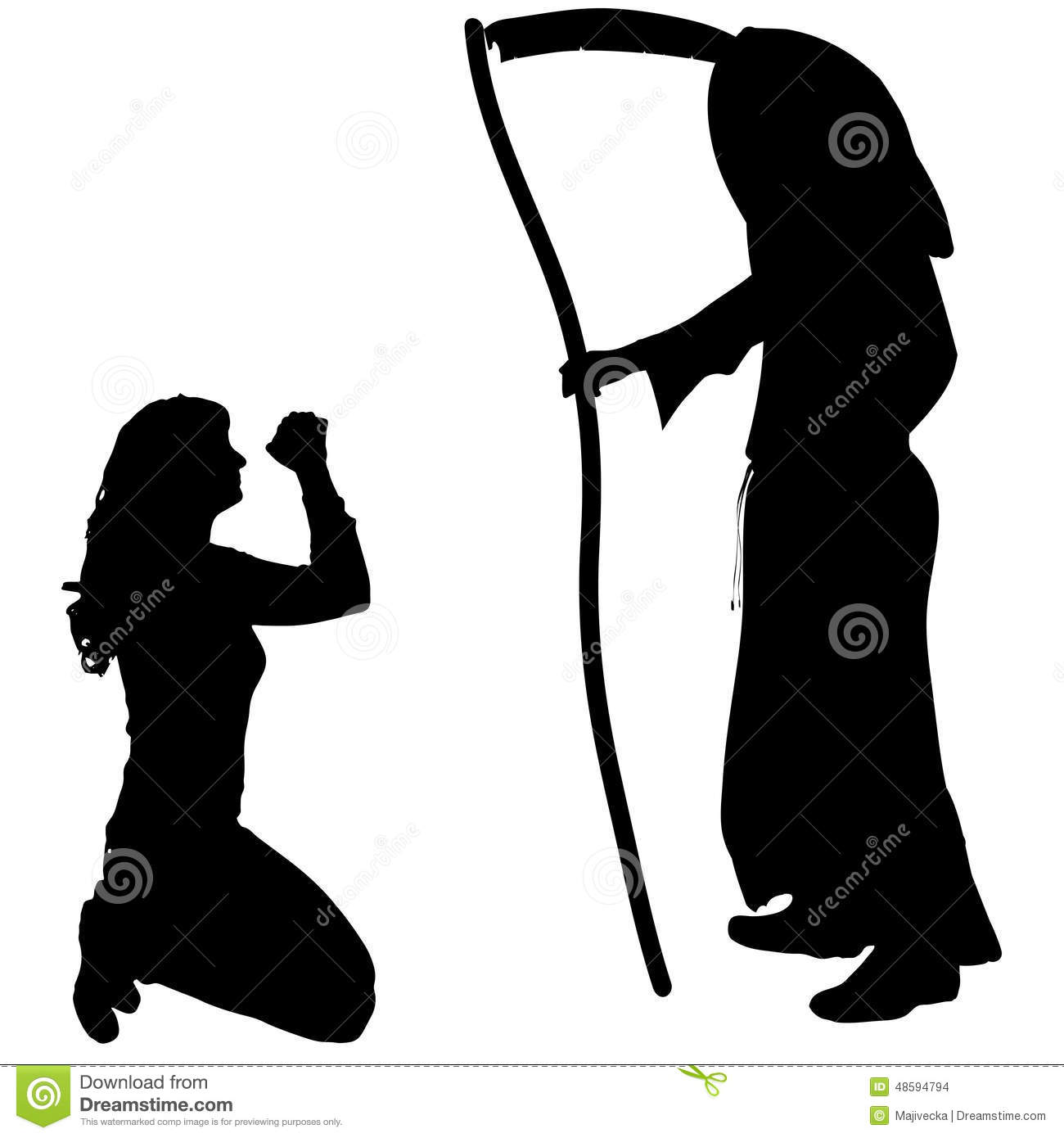 hight resolution of female clipart grim reaper vector silhouette of a graphic freeuse library