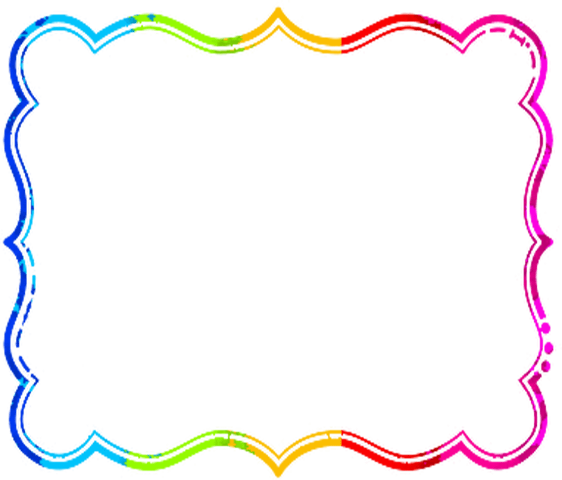 hight resolution of frame clipart rainbow
