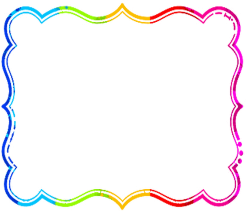 small resolution of frame clipart rainbow