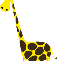 giraffe clipart png banner free library [ 1979 x 3032 Pixel ]