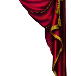 gold curtains png transparent red curtain clipart [ 1632 x 2928 Pixel ]