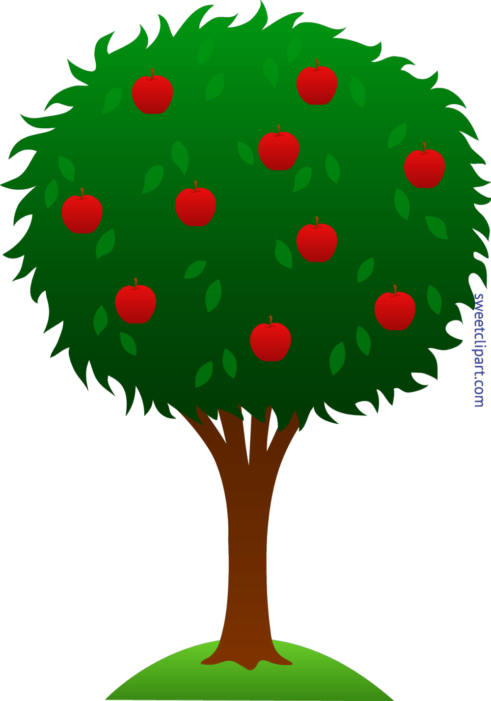 medium resolution of green clipart apple tree clip art sweet image royalty free stock