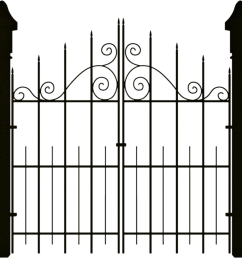 spooky halloween clipart gate banner royalty free [ 1024 x 976 Pixel ]