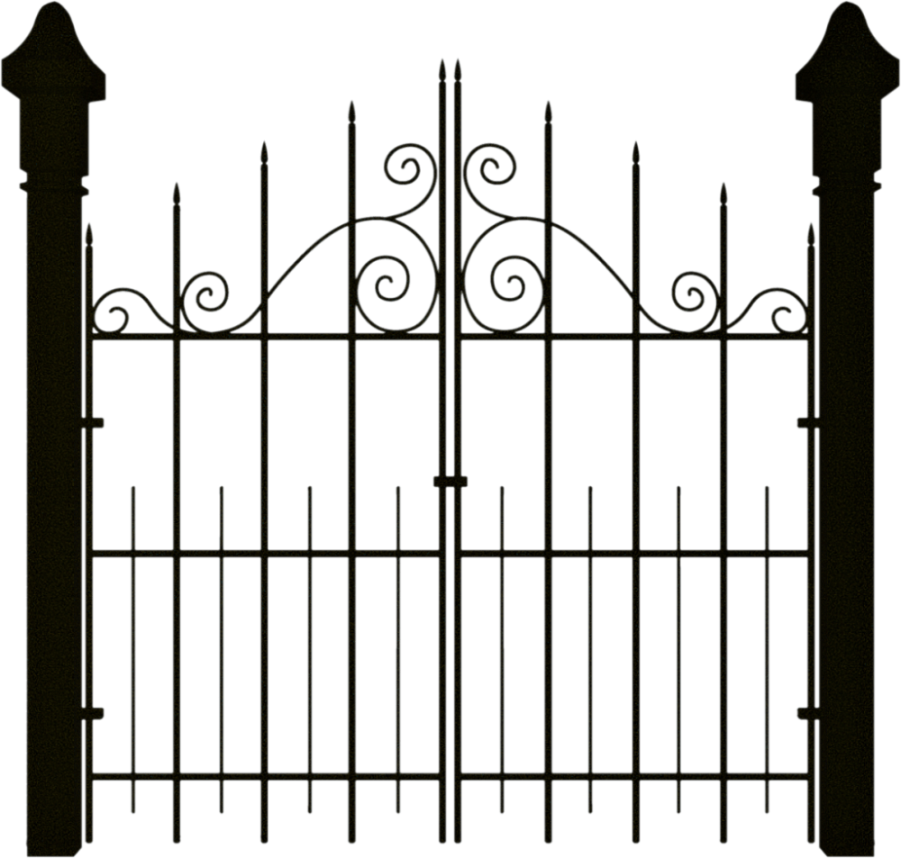 medium resolution of spooky halloween clipart gate banner royalty free