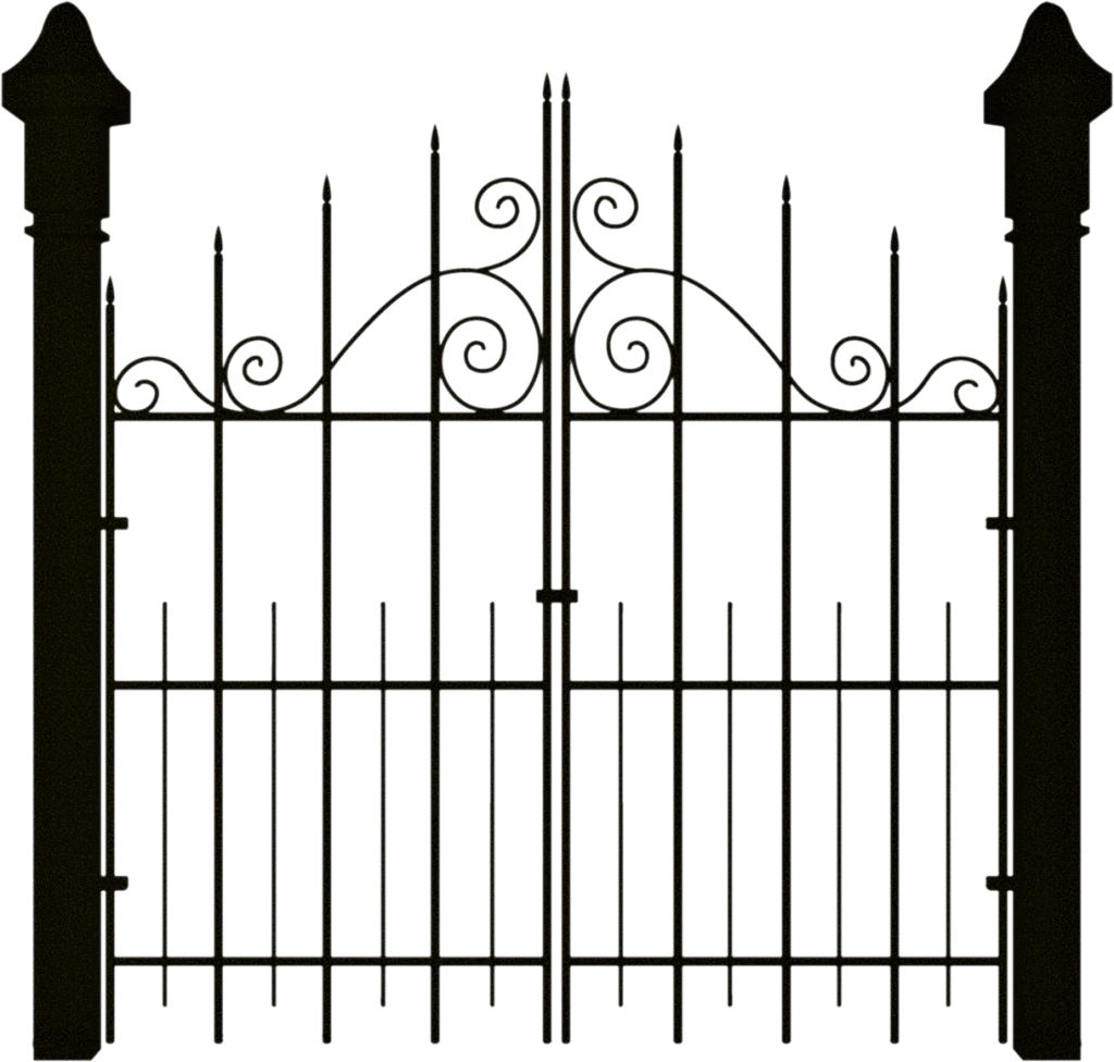 hight resolution of spooky halloween clipart gate banner royalty free