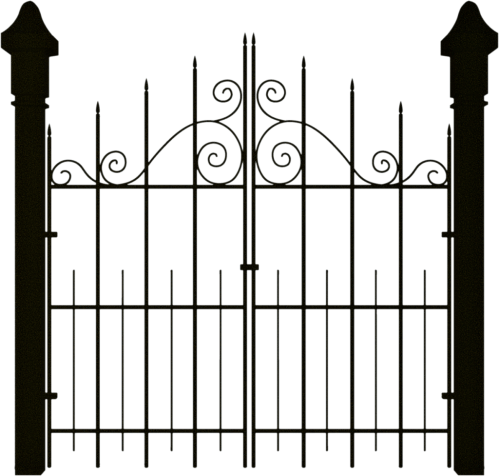 small resolution of spooky halloween clipart gate banner royalty free