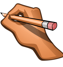 pencil writing clipart png graphic freeuse [ 2400 x 2400 Pixel ]