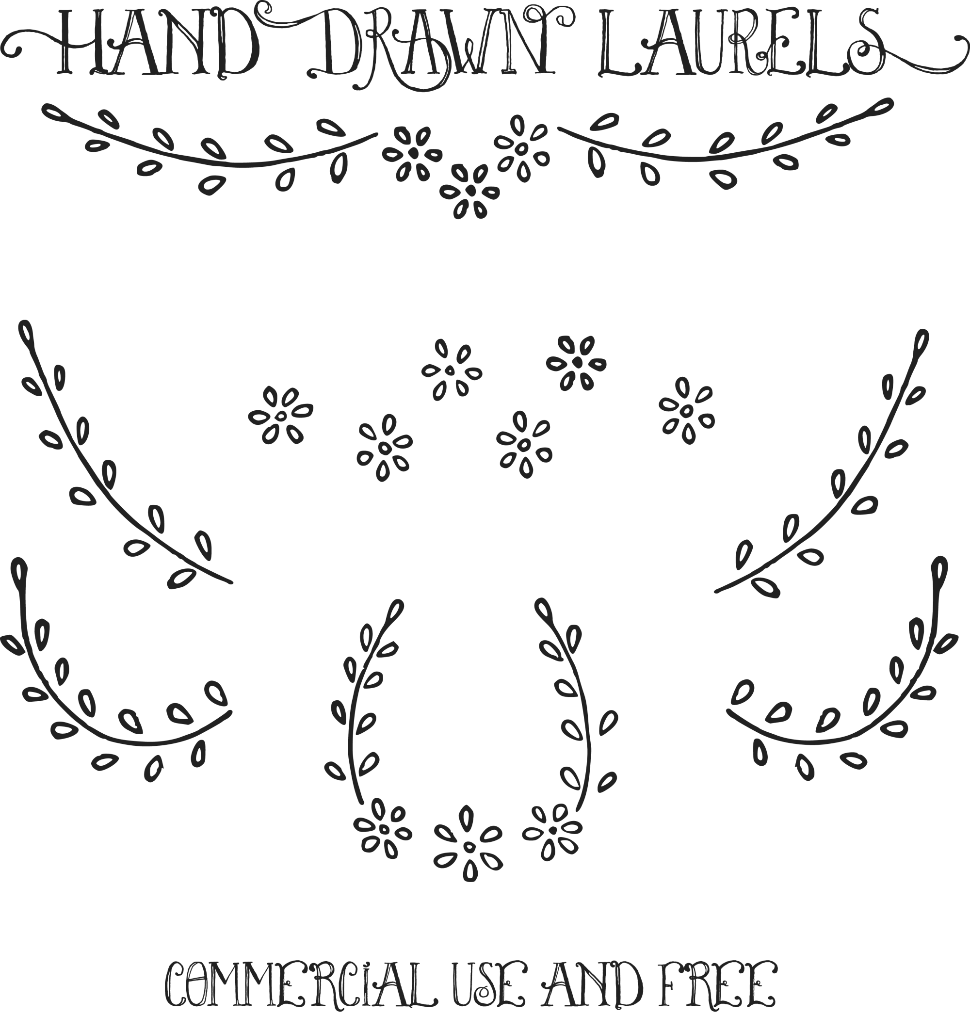 hight resolution of laurel png free royalty images hand drawn