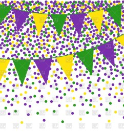 mardi gras clipart flag bunting background with confetti png free stock [ 1200 x 1200 Pixel ]