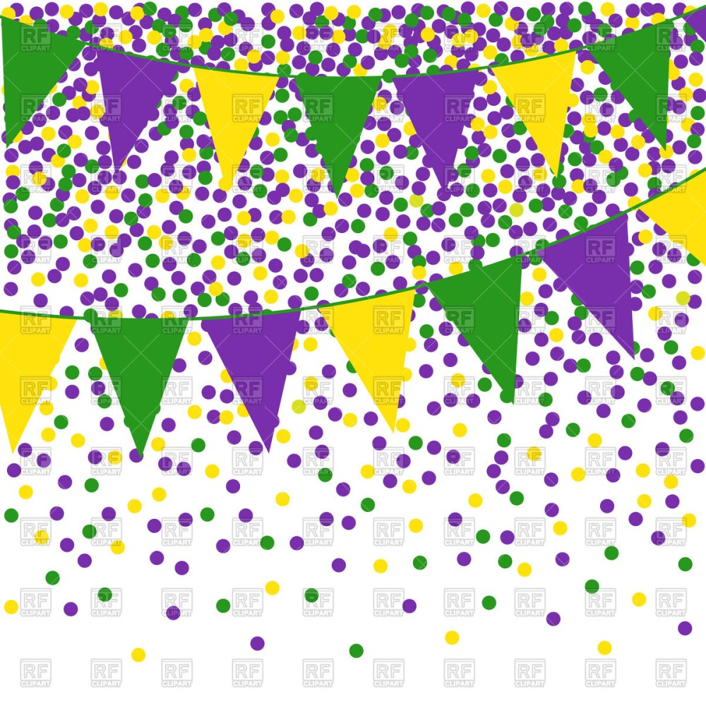 medium resolution of mardi gras clipart flag bunting background with confetti png free stock
