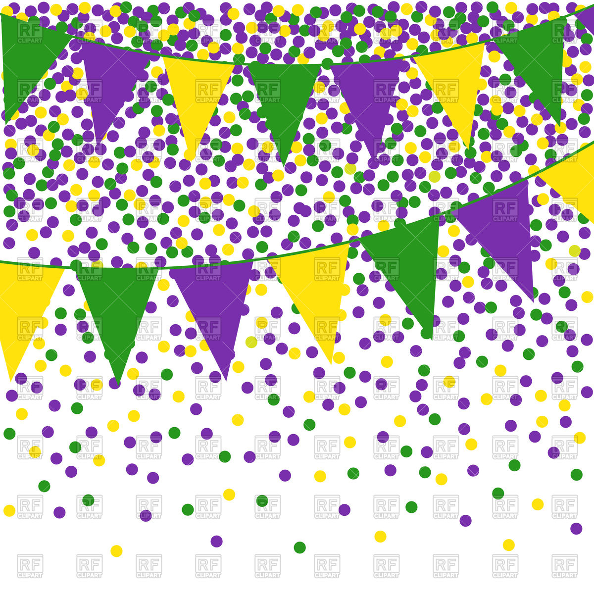 hight resolution of mardi gras clipart flag bunting background with confetti png free stock