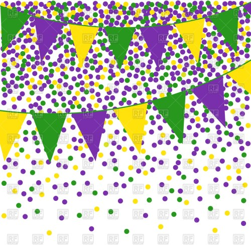 small resolution of mardi gras clipart flag bunting background with confetti png free stock