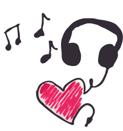 music clipart heart cleaned up big image [ 2400 x 2272 Pixel ]