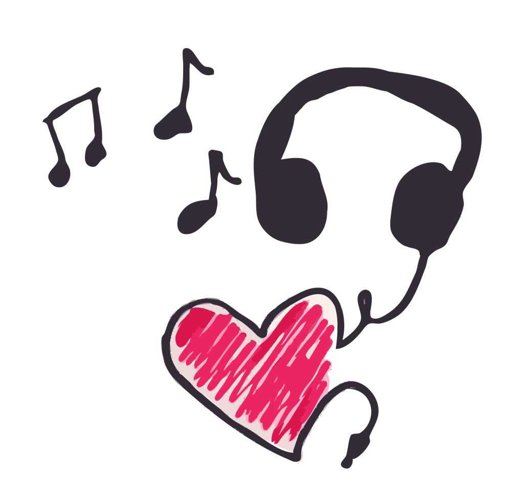 medium resolution of music clipart heart cleaned up big image