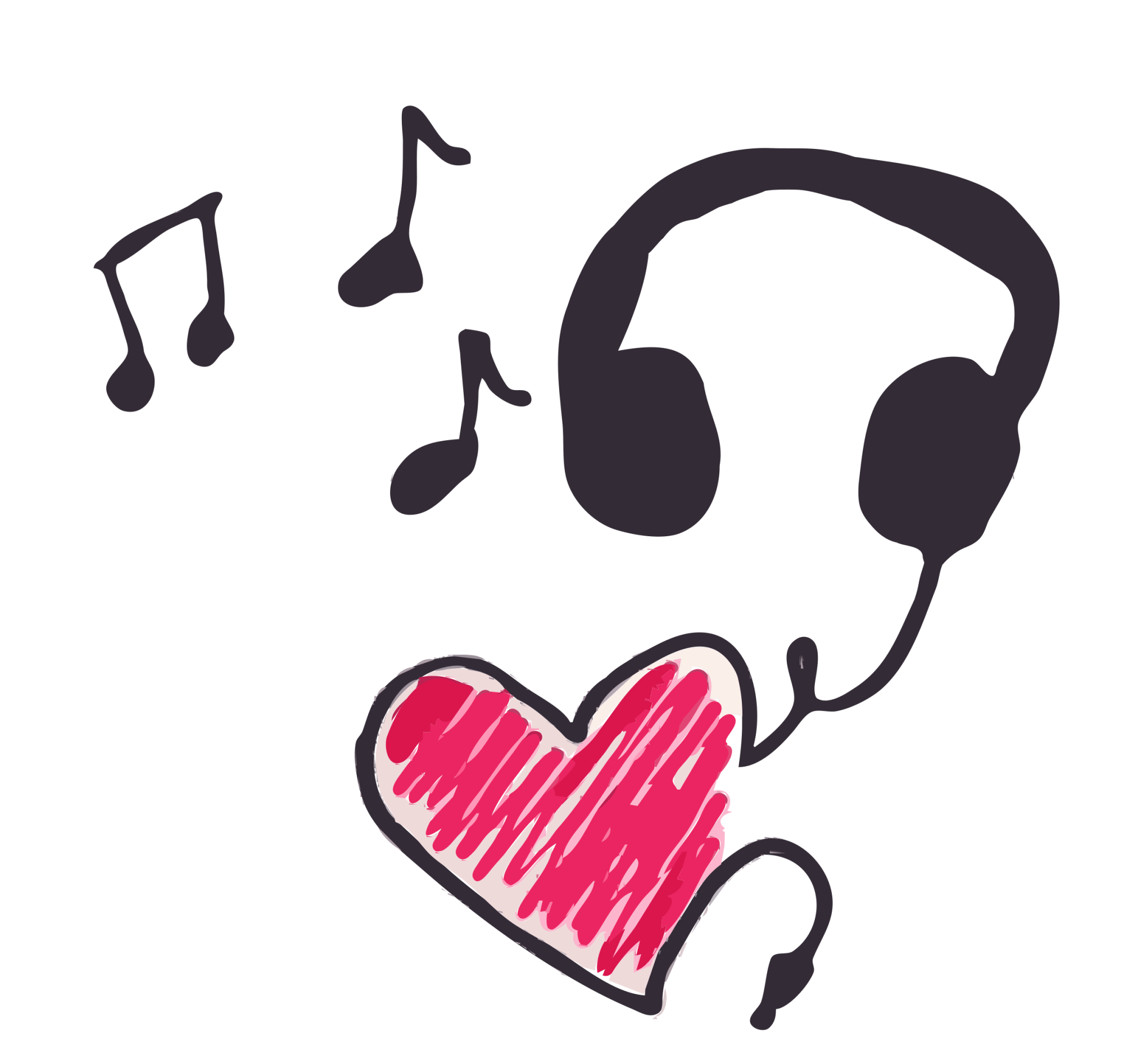 hight resolution of music clipart heart cleaned up big image