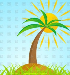 palm clipart sun tropical tree on grass jpg royalty free [ 1198 x 1200 Pixel ]