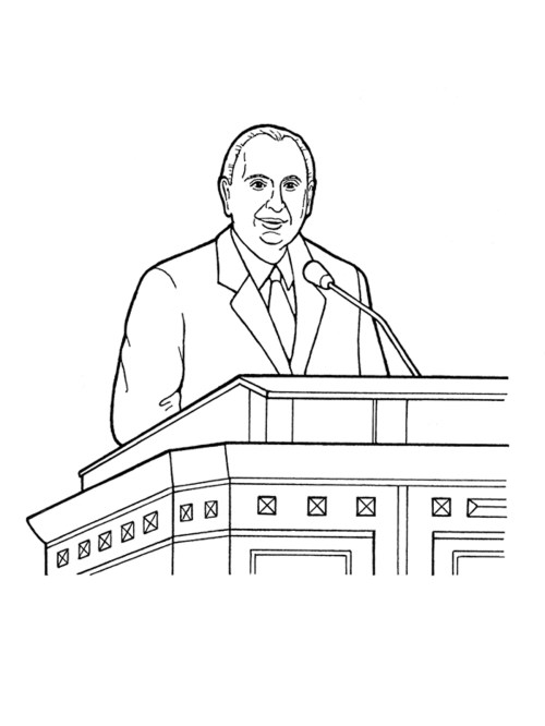 small resolution of primary clipart general conference lds thomas s monson speaking png royalty free stock