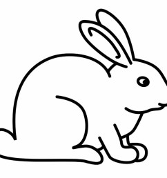 black and white rabbit bunny clipart vector download [ 1024 x 768 Pixel ]